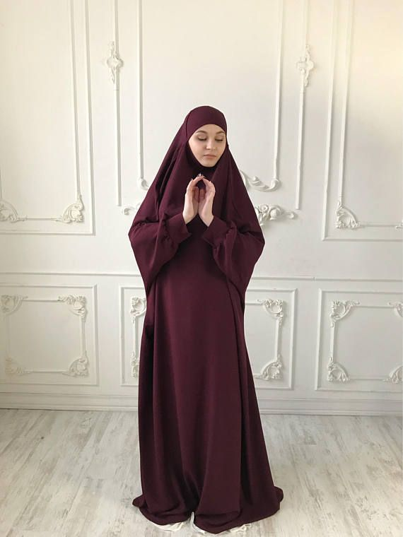 Burgundy franch #jilbab, Maroon #khimar , Long #hijab dress, #islamic gift, dubai #abaya, #muslim covering