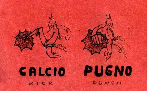 Learning Italian Language ~ Calcio, pugno (Kick, Punch) IFHN