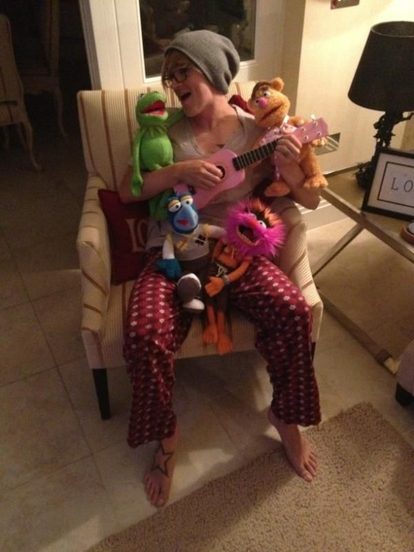 Tom and the muppets... No, not Dougie, Danny and Harry :P
