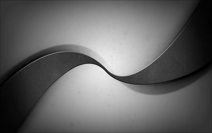 Metal Black Gray Grey White Curves Abstract