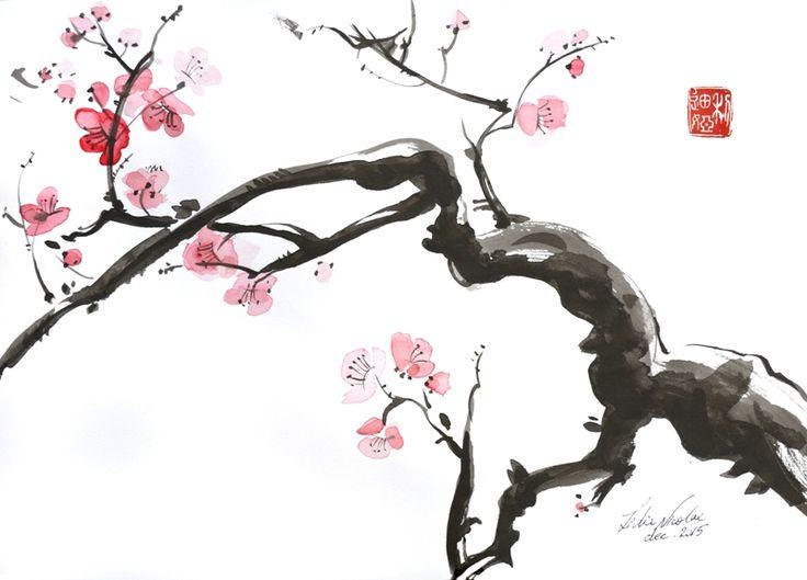 SAKURA 2016 ink on paper, 30x42 cm