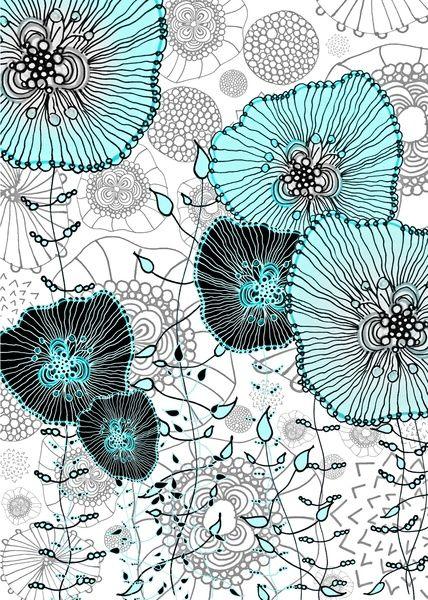 """MYSTIC GARDEN MINT  by Monika Strigel Art Print / MINI (8"""" x 10"""") $19.00"""
