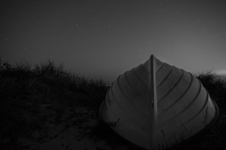 Darkest night   #boat, #anchor, #baltic sea, #ostsee, #sunset #beach, #night, #nacht, #sterne, #stars