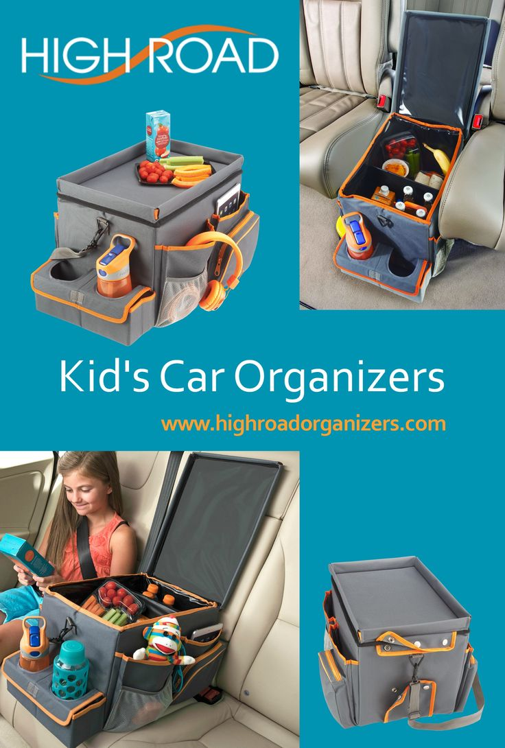 Curb backseat boredom on summer car vacations and family road trips, with an insulated cooler, game storage station and snack tray in one! See more kid cruisin' organizers at www.highroadorganizers.com