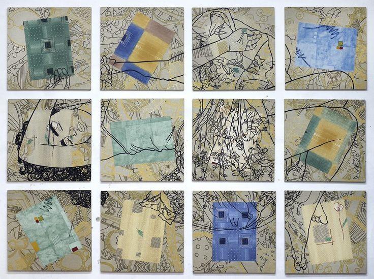 ST Políptico 54 cm x 54 cm c.u Mixta-Lino 2013 3000€ #arte #art #cuban #Lisandra Isabel Garcia
