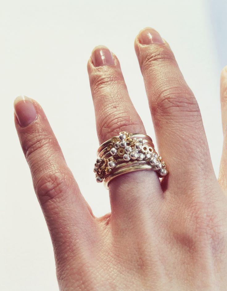 Ring: Metaal & Kralen