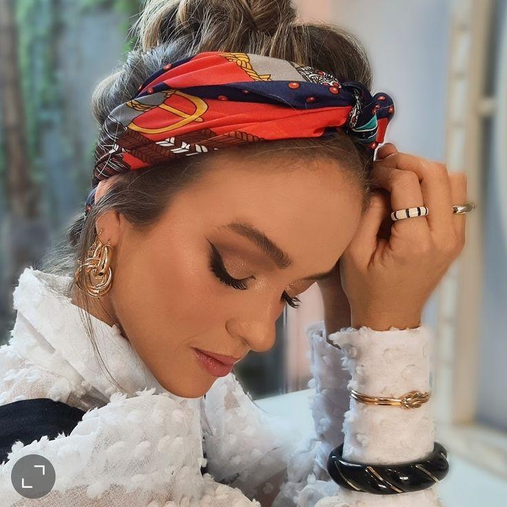 Pin by Allegro Acessórios on head scarfs,bands/turban in 2021 | Head scarf, Headbands, Fashion
