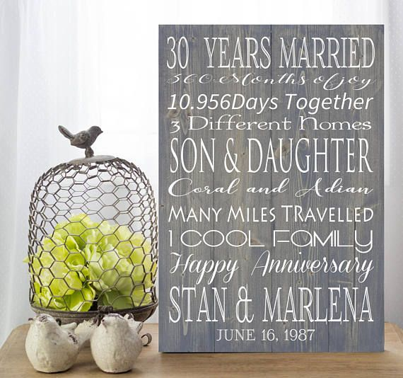 What Is The 30th Wedding Anniversary Gift: Best 25+ 30th Anniversary Gifts Ideas On Pinterest