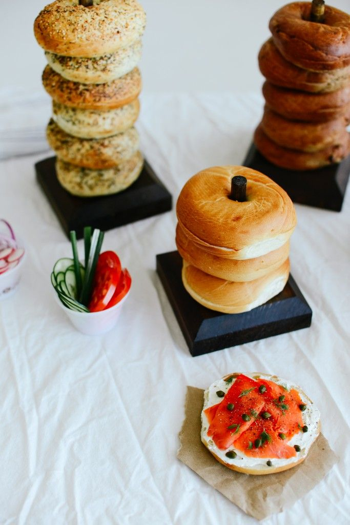 Best 25 bagel party ideas ideas on pinterest brunch for Bar food ideas recipes