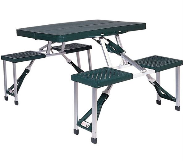 Stansport Picnic Table with Folding Seats / $52.99 / Camping Gear Outlet