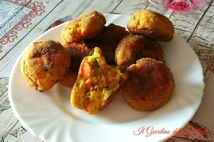 Polpette+con+verdure+miste+al+forno