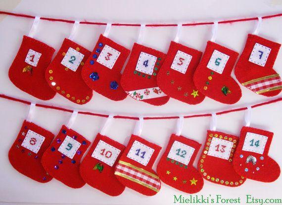 Christmas ornaments. Advent Calendar. Christmas by MielikkisForest