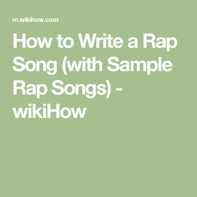 how to write a rap song funnyhow