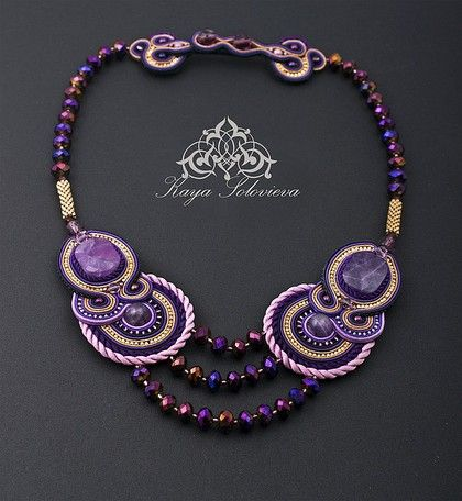 Necklace beads handmade.  Fair Masters - handmade necklace OPIUM.