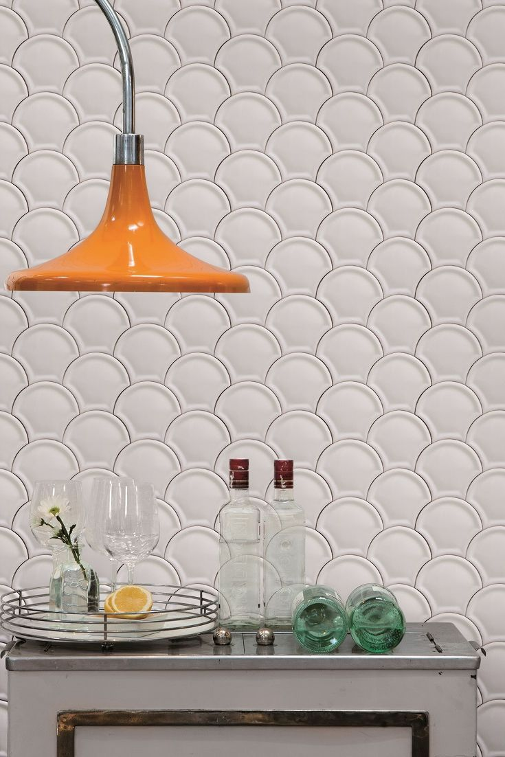 This tile effect wallpaper is amazing it looks so much like the real thing!