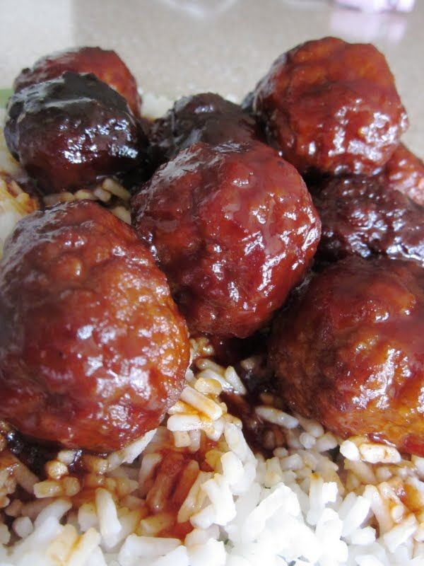 Slow Cooker Sweet and Tangy Meatballs | Six Sisters' Stuff _ Source ...