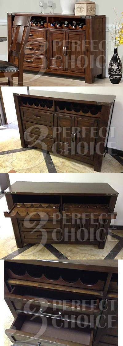 Sideboards and Buffets 183322: Transitional Dining Server Buffet Sideboard Storage Wine Kitchenware Cabinet -> BUY IT NOW ONLY: $920 on eBay!