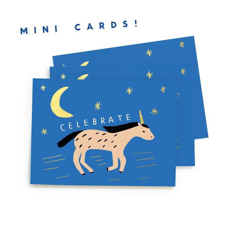 Carolyn Suzuki Goods: Unicorn Run - Mini Cards