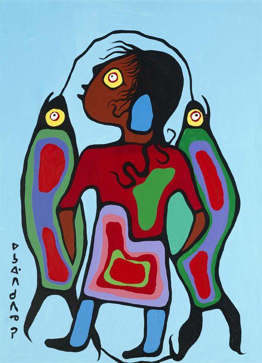 Boy with Fish | Norval Morriseau  AGO Art Gallery of Ontario