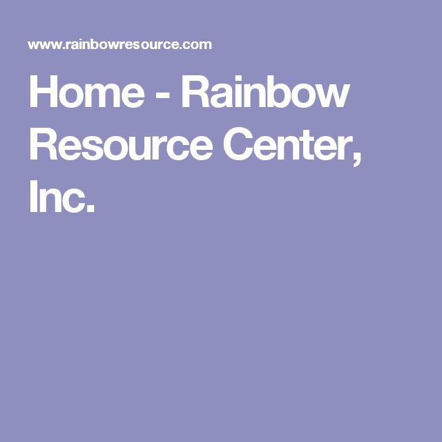 Home - Rainbow Resource Center, Inc.