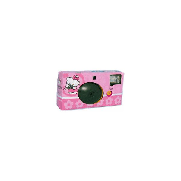Hello Kitty Disposable Camera **SALE** ($6.99) ❤ liked on Polyvore featuring fillers, camera, hello kitty and misc