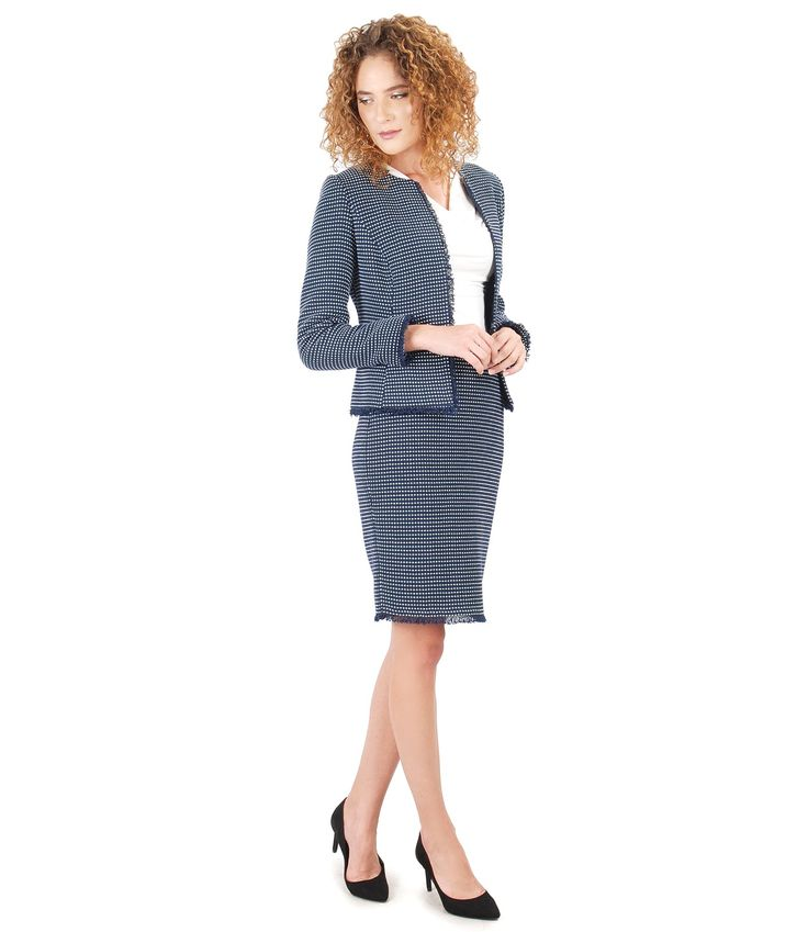 Office Outfit Fall17 | YOKKO #cotton #office #skirt #jacket #fall17 #women #business