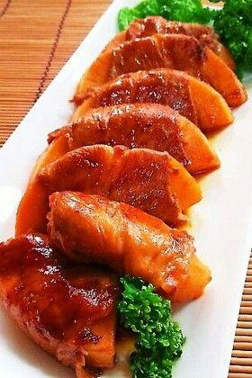 タケノコの豚肉巻き