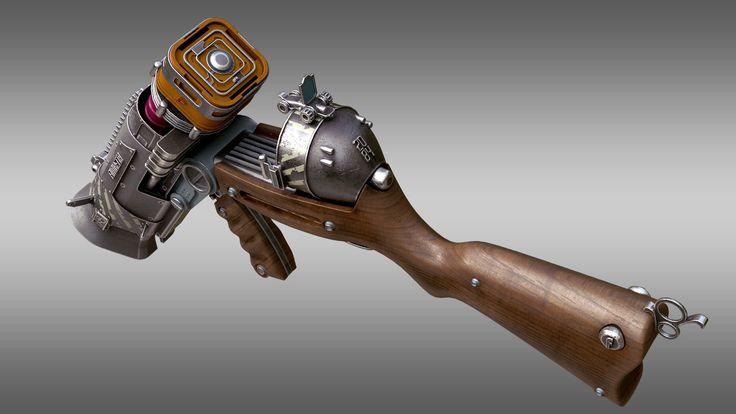 ArtStation - Futuretta Shotgun Rifle, Facundo Giovannone
