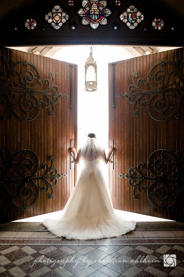 ©Christina Ahlheim   Charisma Photography   Bride    Francis Xavier College Church   Church Door   St. Louis, Missouri Wedding Photographer