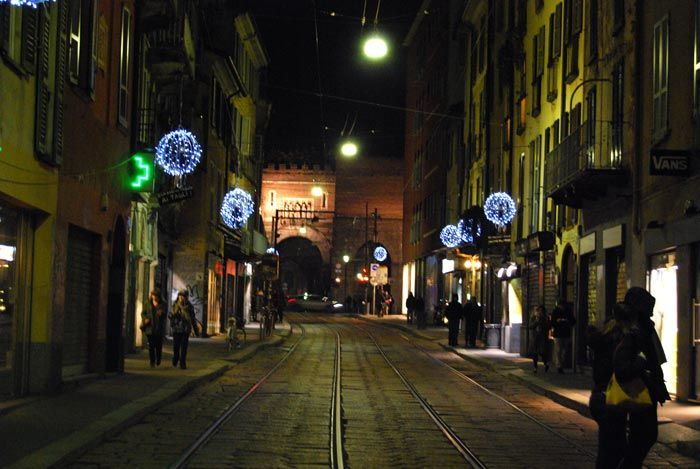 Corso di Porta Ticinese by night - Milan, Italy