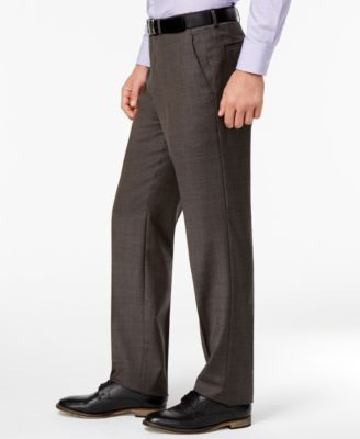 Michael Kors Men's Big & Tall Classic-Fit Brown Stepweave Stretch Vested Suit - Brown 48XL