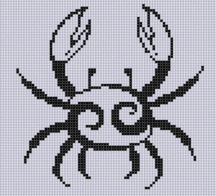 Looking for your next project? You're going to love Zodiac Cancer 2 Cross Stitch Pattern  by designer Motherbeedesigns. - via @Craftsy