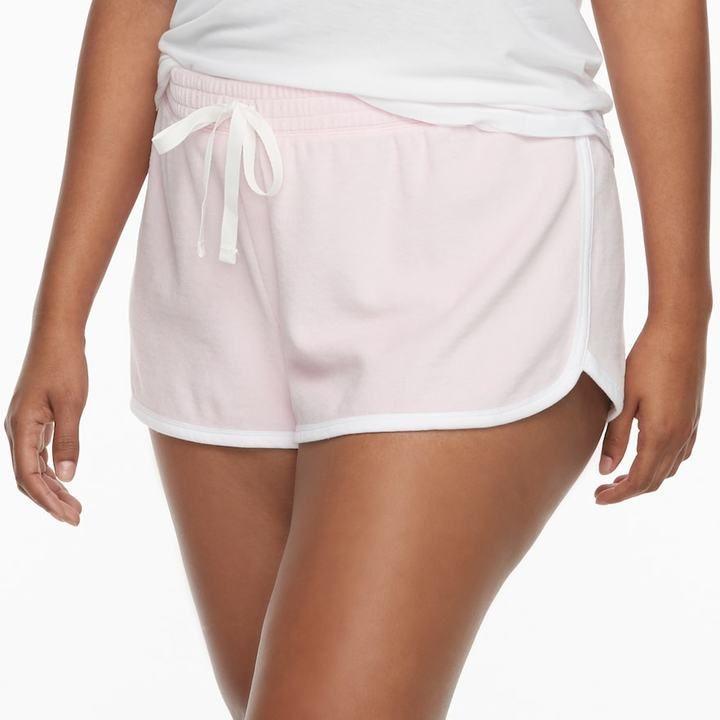 SO Juniors' Plus Size SO® Pajamas: Velour Shorts