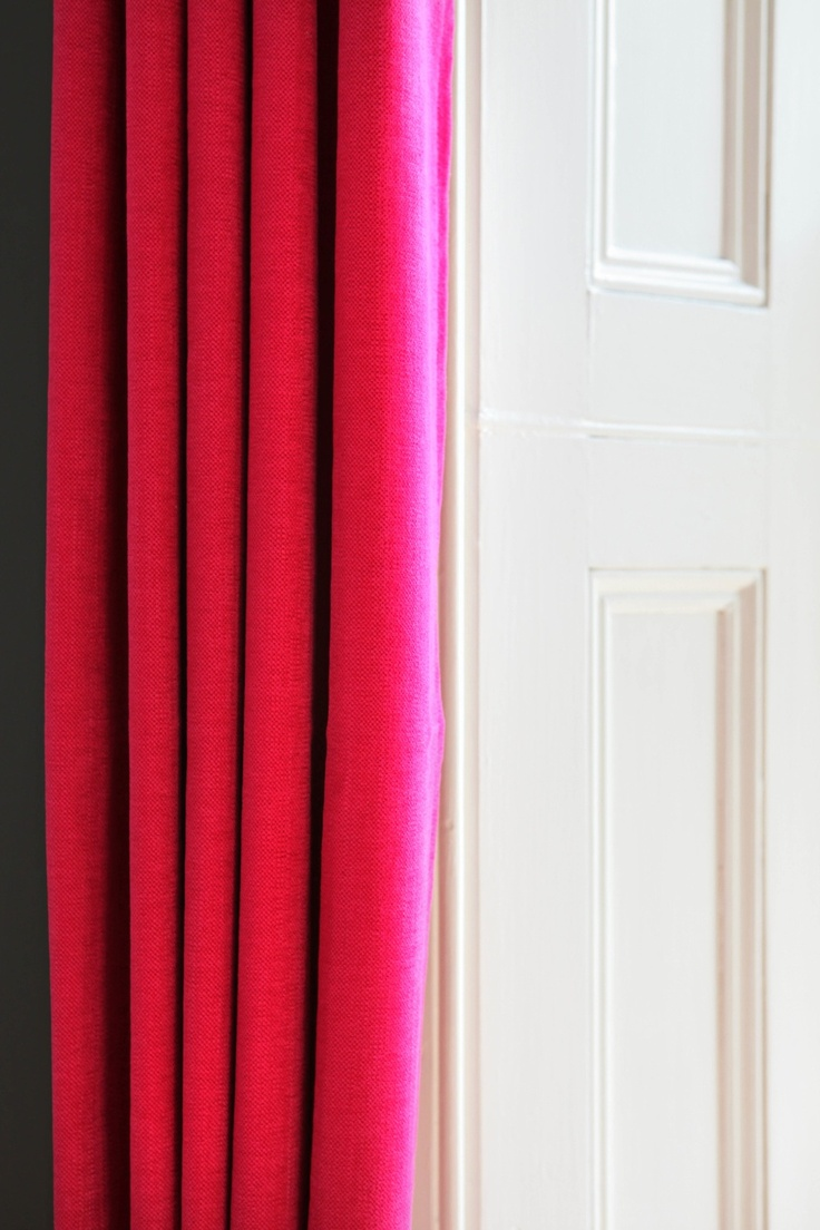 Hot pink curtains - Hot Pink Linen Mix Curtains From The Modern Curtain Company Curtains