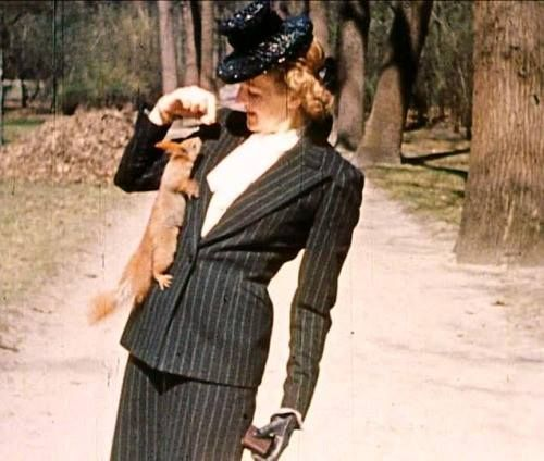 Eva Braun...in a surprisingly chic outfit for '40's Nazi Germany...