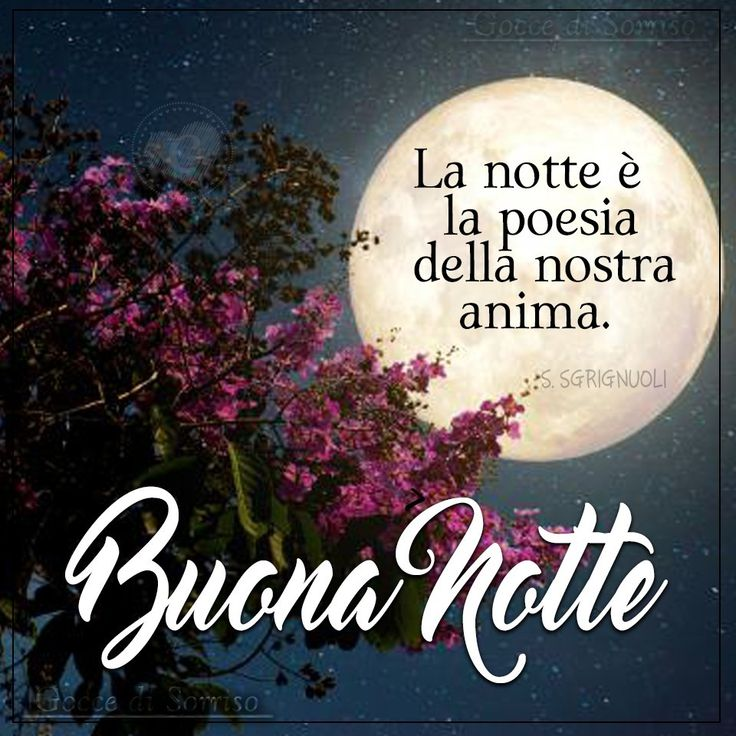 Buonanotte immagine #3247 - La notte è la poesia della nostra anima. Buona Notte - Immagine per Facebook, WhatsApp, Twitter e Pinterest.