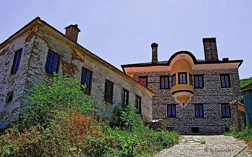 Macedonia, traditional architecture, Lehovo village. Greece - photography BILWANDER
