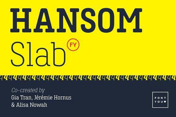 Hansom Slab FY Bold Italic by BlackFoundry on @creativemarket