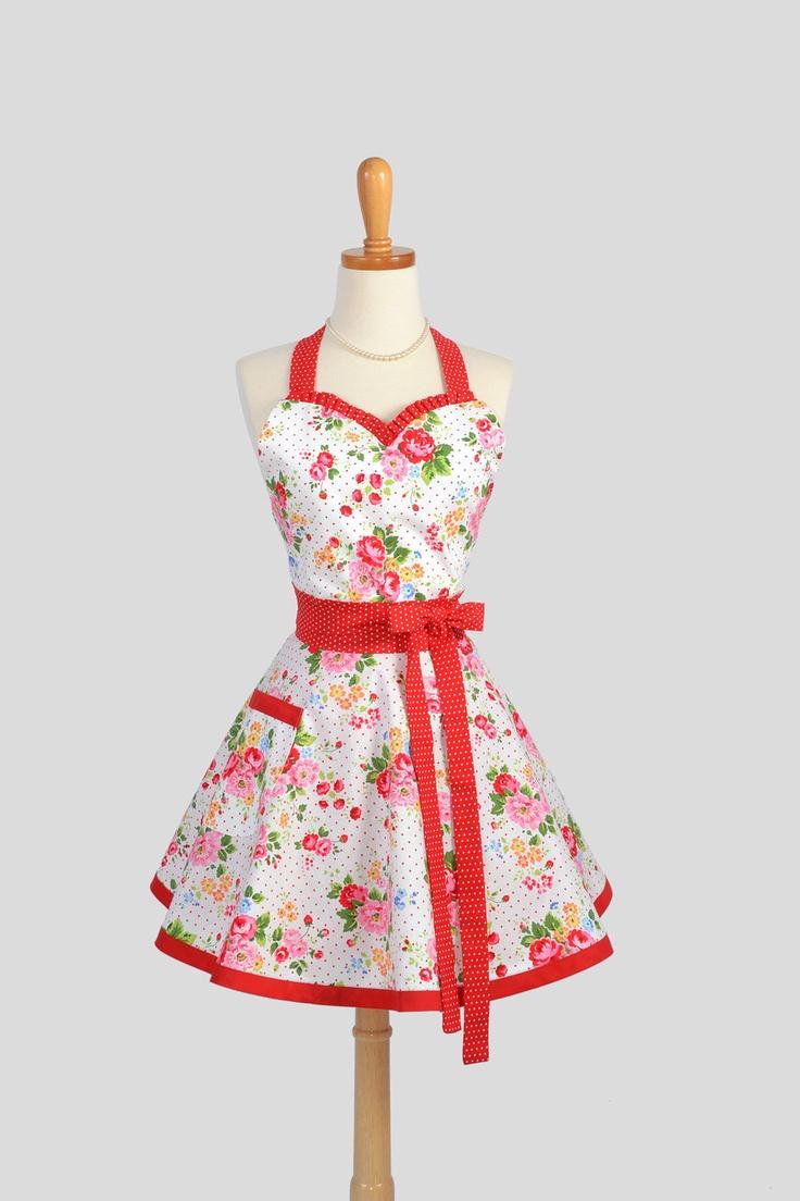 sweetheart retro apron cute kitchen full retro womens. Black Bedroom Furniture Sets. Home Design Ideas