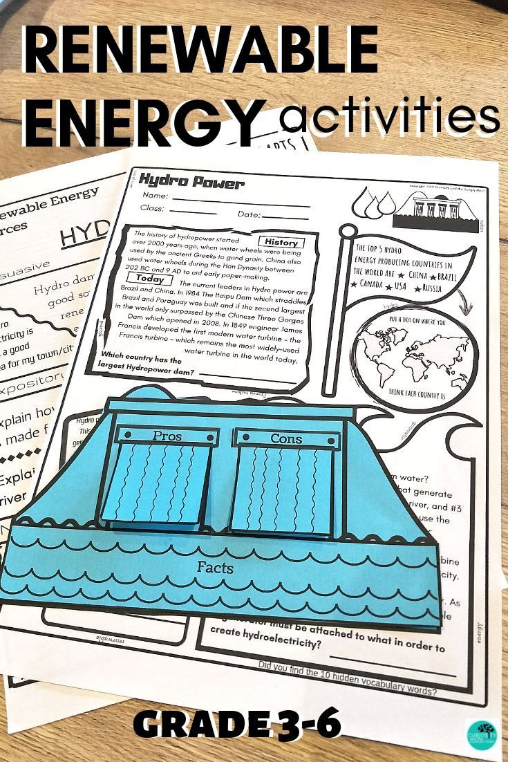 Trying To Teach Renewable Energy Topics You Ll Find These Worksheets Will Help Your Students The Foldable Act In 2020 Hydro Energy Renewable Energy Energy Activities
