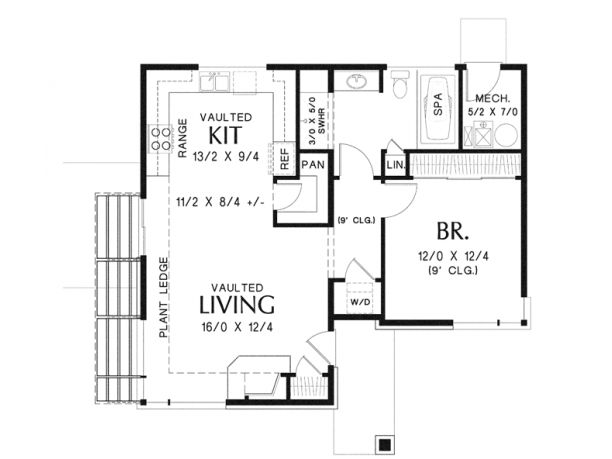 Compact One Bedroom Contemporary Ideal For Micro Living! – 899 Square Feet and 1 Bedroom – House Plan Code HWEPL76533
