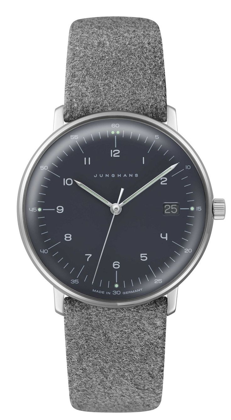Max Bill by Junghans released this women's edition adorned in felt, softening and modernizing the Bauhaus-aesthetic into a contemporary presence.