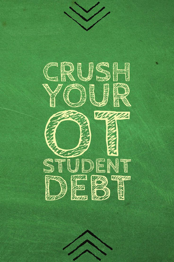 Here are a list of concrete suggestions for crushing your occupational therapy student debt.http://otpotential.com/blog/otdebt