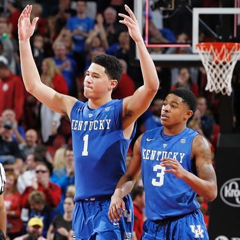 Tyler Ulis and Devin Booker, together again in Phoenix. #weareuk