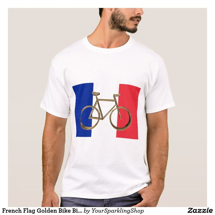 French Flag Golden Bike Bicycle Cycling Cyclist