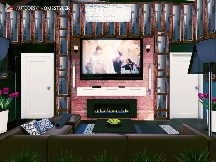 """Check out my #interiordesign """"Theater room"""" from #Homestyler http://autode.sk/1ltPOfi"""