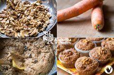 Ořechové muffiny s mrkví