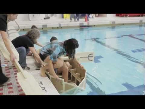 Try this (advanced): Mechanical Engineering: MIT's Annual Cardboard Boat Regatta.