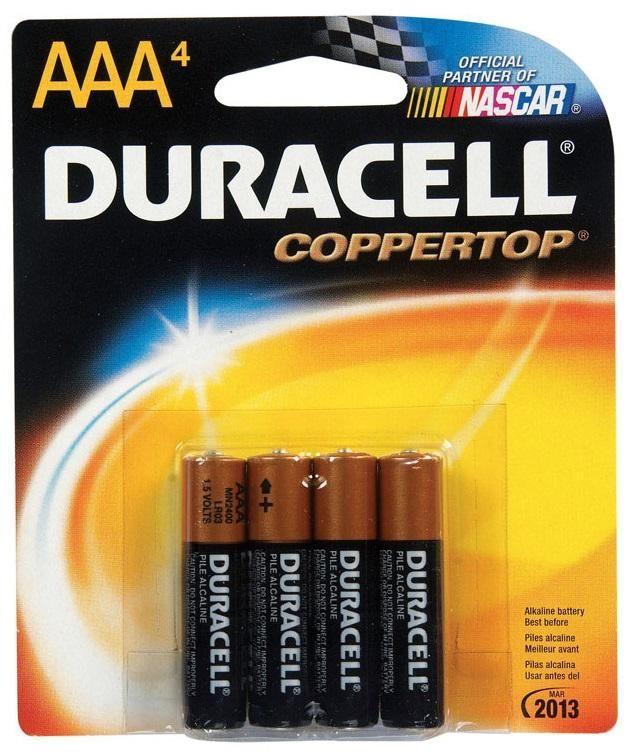 Duracell Mn2400b4z Coppertop Alkaline Batteries Aaa 1 5 Volts 4 Pack In 2021 Duracell Duracell Batteries Alkaline Battery