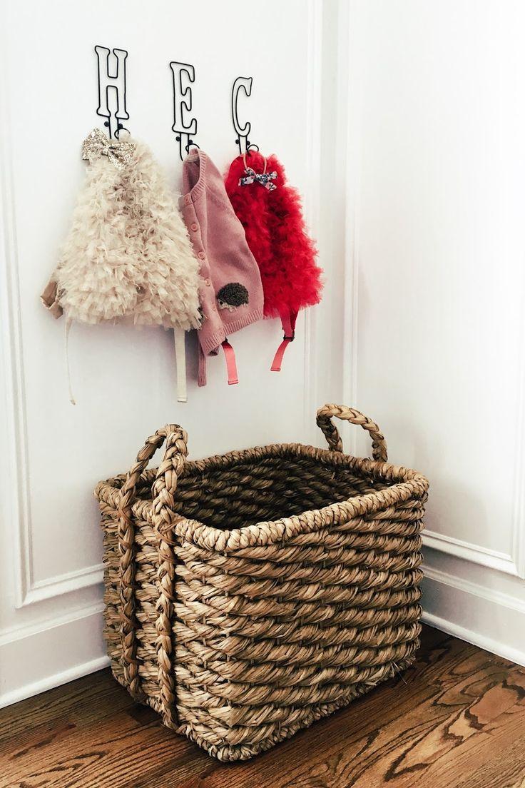 Hooks u0026 Basket by front door // Makeshift Mudroom & 541 best Feels Like Home images on Pinterest | Bathroom ideas ... pezcame.com